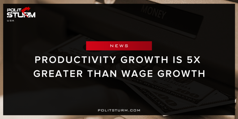 Productivity Growth Is 5x Greater than Wage Growth