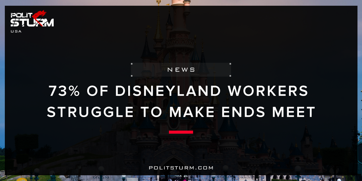 73% of Disneyland Workers Struggle to Make Ends Meet