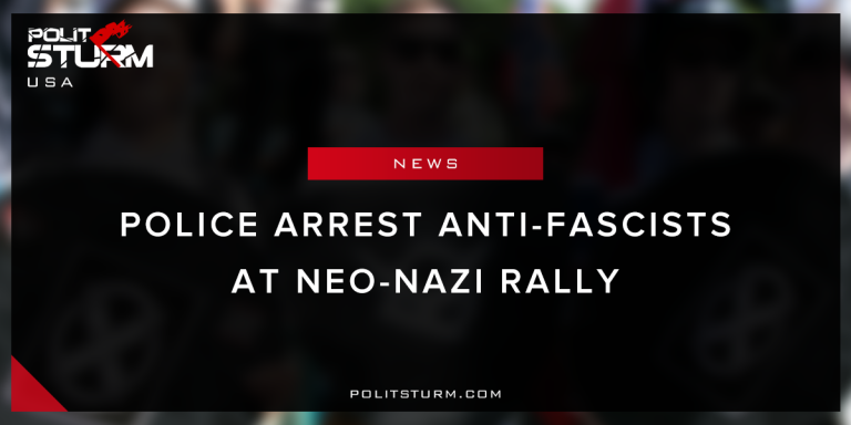 Police Arrest Anti-Fascists at Neo-Nazi Rally