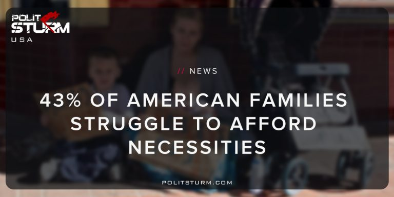 43% Of American Families Struggle to Afford Necessities