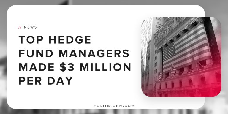 Top Hedge Fund Managers Made $3 Million Per Day