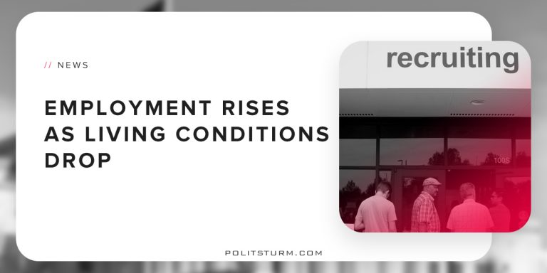 Employment Rises as Living Conditions Drop