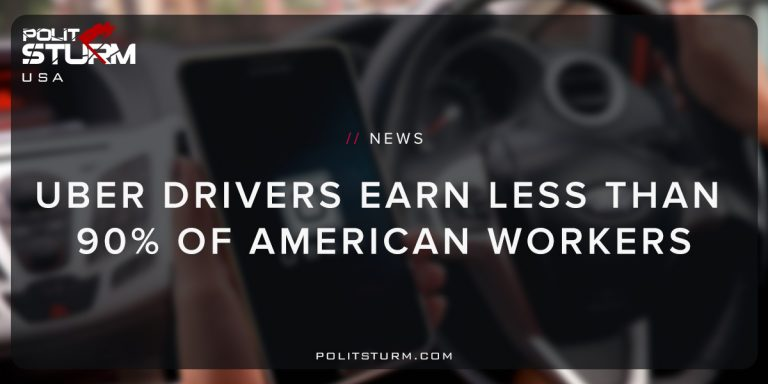 Uber Drivers Earn Less Than 90% of American Workers