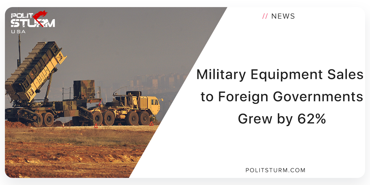 Military Equipment Sales to Foreign Governments Up 62%