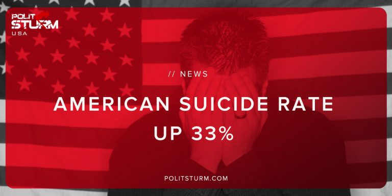 American Suicide Rate Up 33%