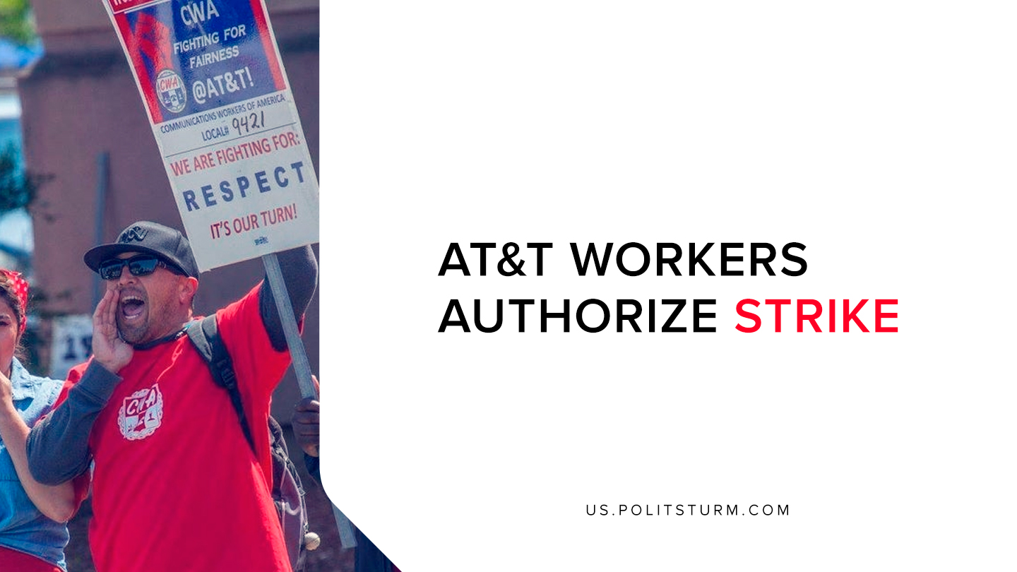AT&T Workers Authorize Strike