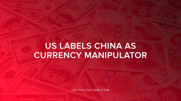 US Labels China as Currency Manipulator