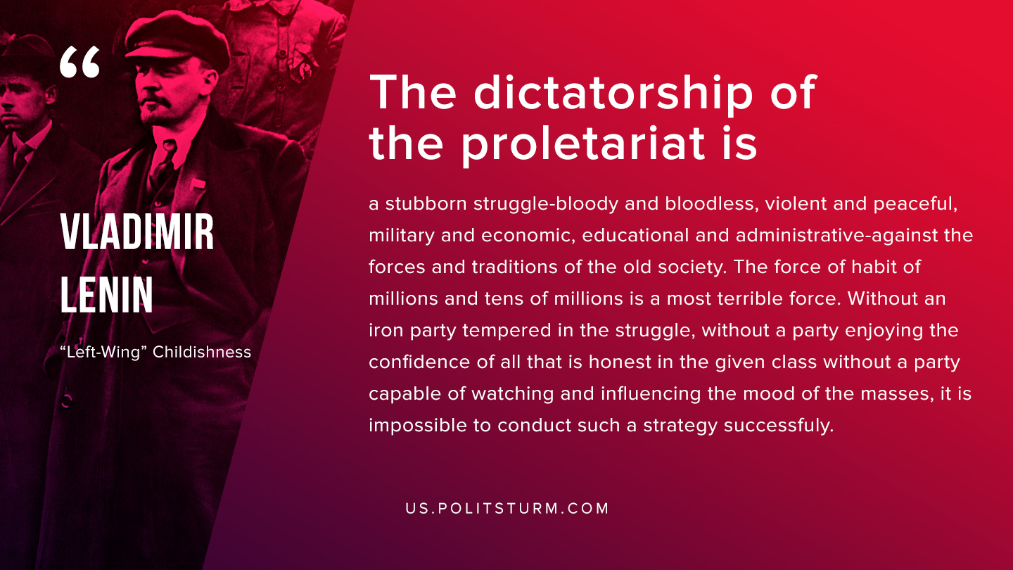Lenin on Dictatorship of Proletariat and Communist Party