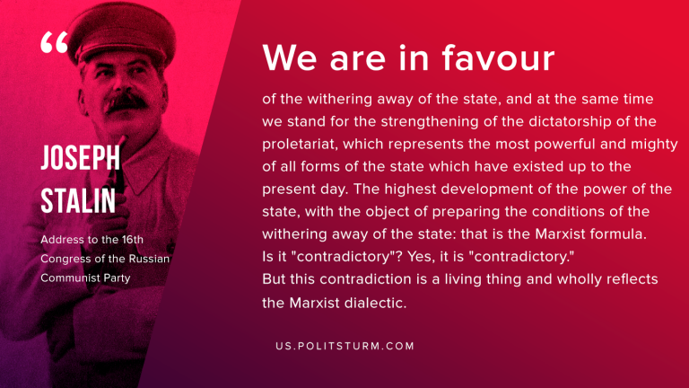 Stalin on the Withering Away of the State