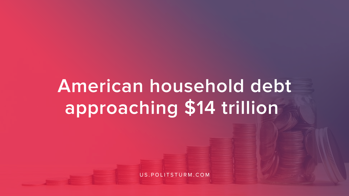 American Household Debt Approaching $14 Trillion
