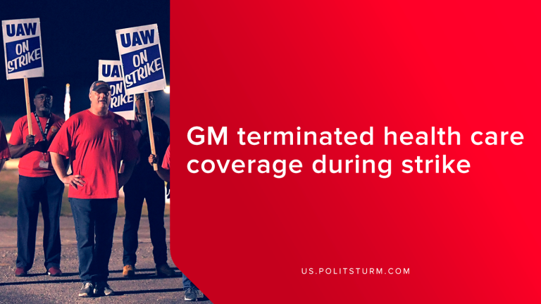 GM Terminated Health Care Coverage During Strike