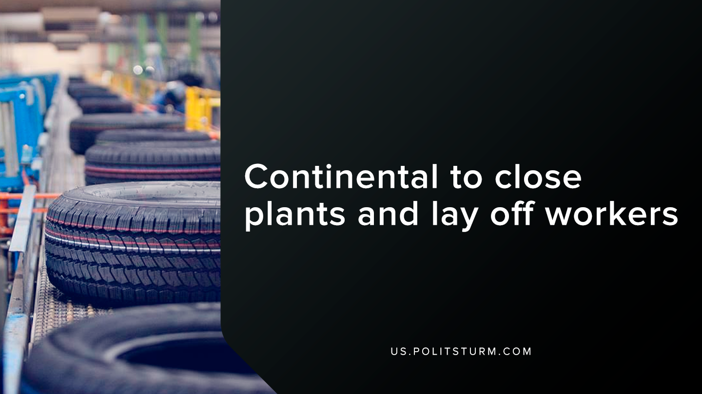 Continental to Close Plants and Lay Off Workers