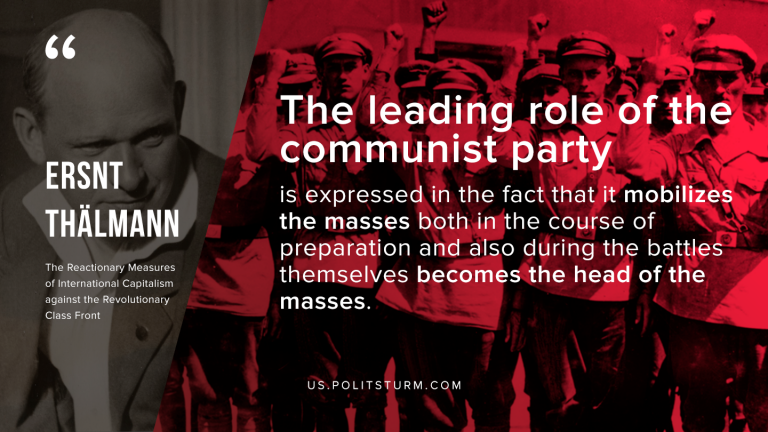 Thälmann on the Role of the Communist Party