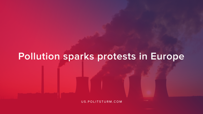 Pollution sparks protests in Europe