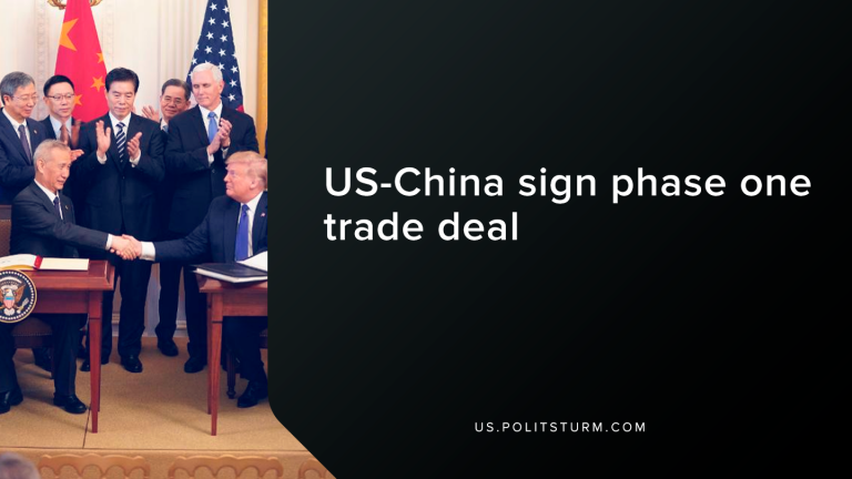 U.S-China Sign Phase One Trade Deal