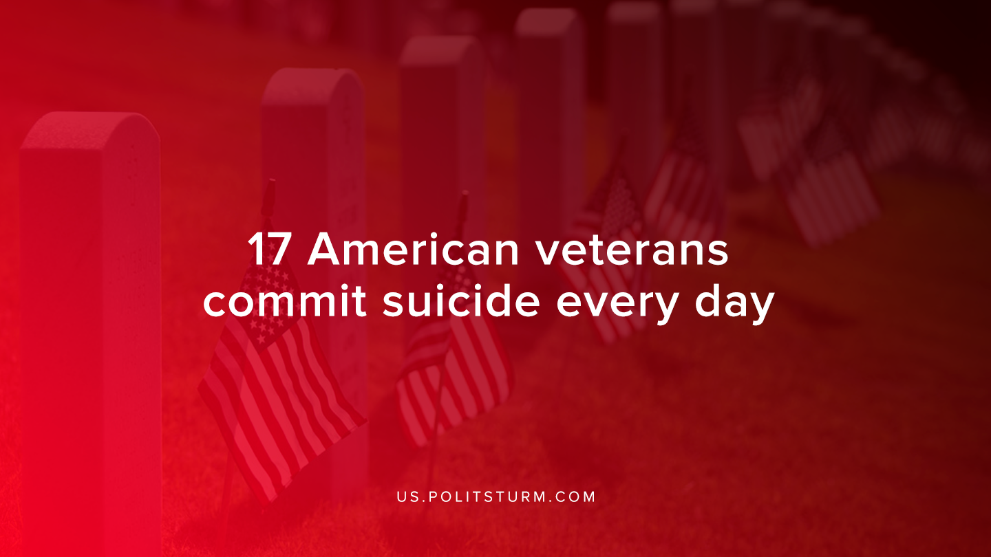 17 American veterans commit suicide every day