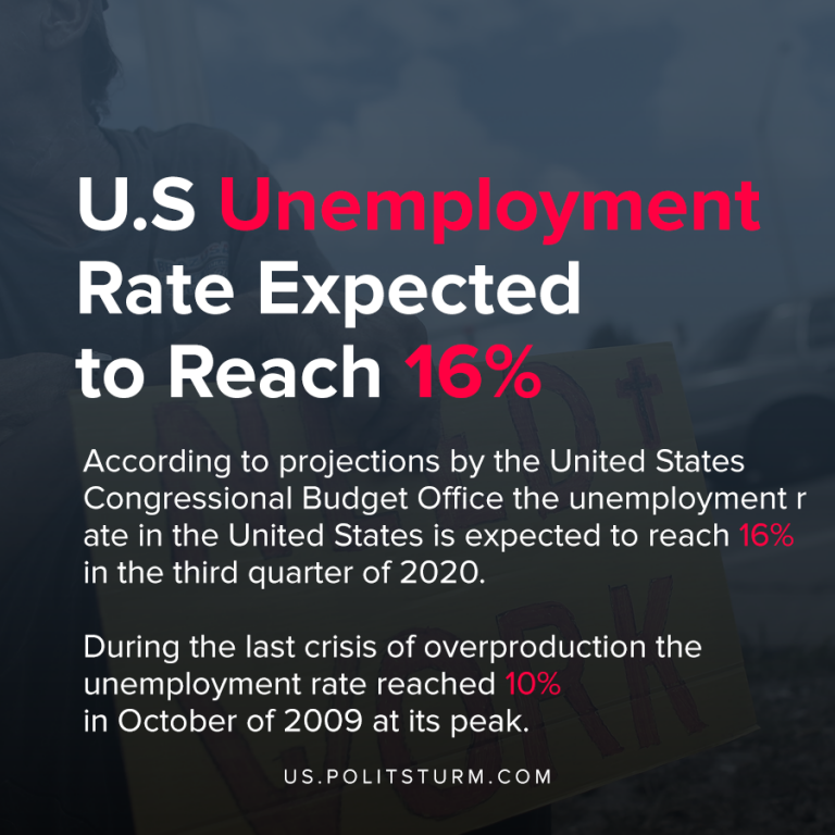U.S Unemployment Rate Expected to Reach 16%