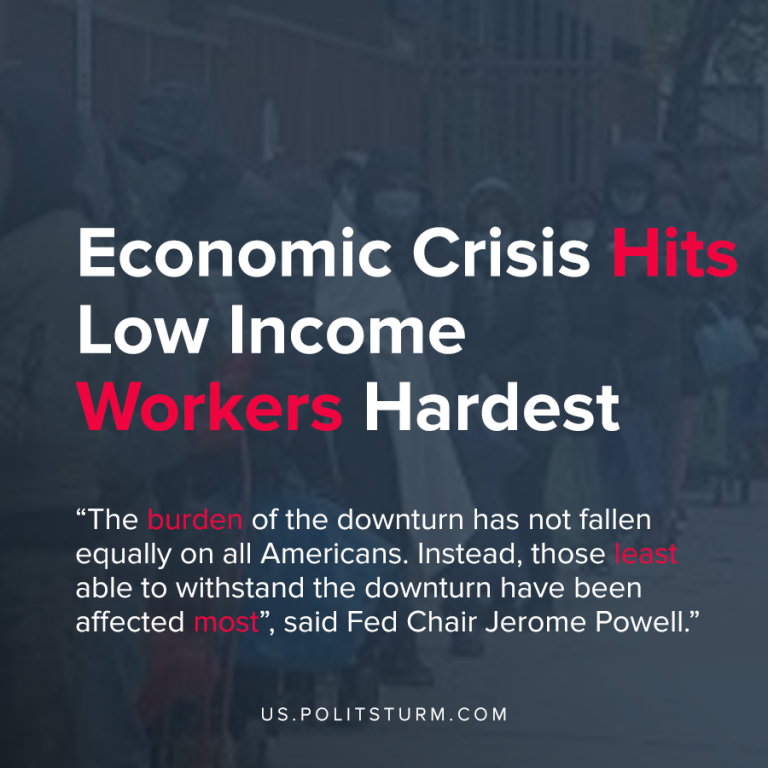Economic Crisis Hits Low Income Workers Hardest