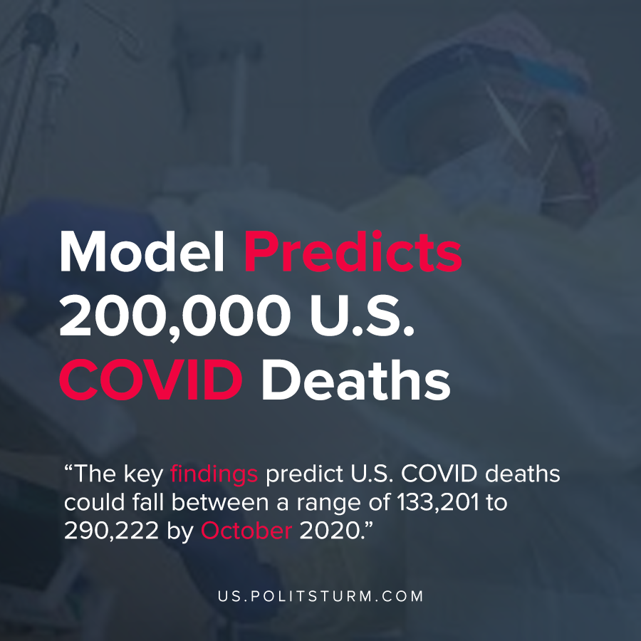 Model Predicts 200,000 U.S. COVID Deaths