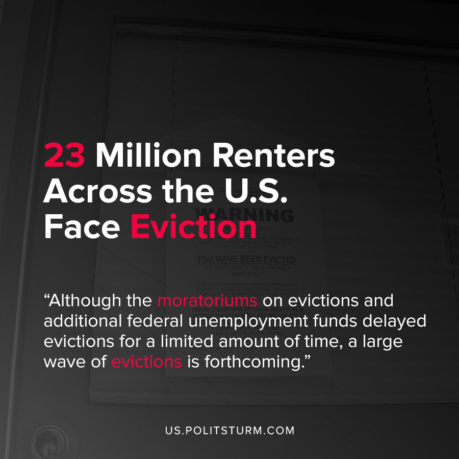 23 Million Renters Across the U.S. Face Eviction