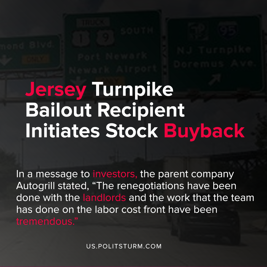 Jersey Turnpike Bailout Recipient Initiates Stock Buyback