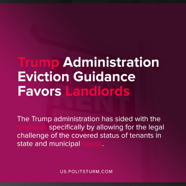 Trump Administration Eviction Guidance Favors Landlords