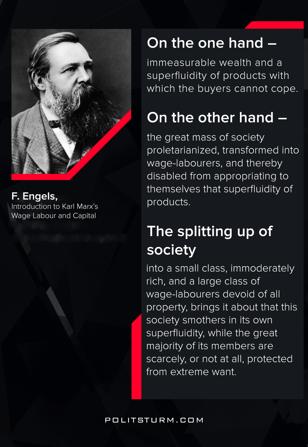 Engels on the Modern Society
