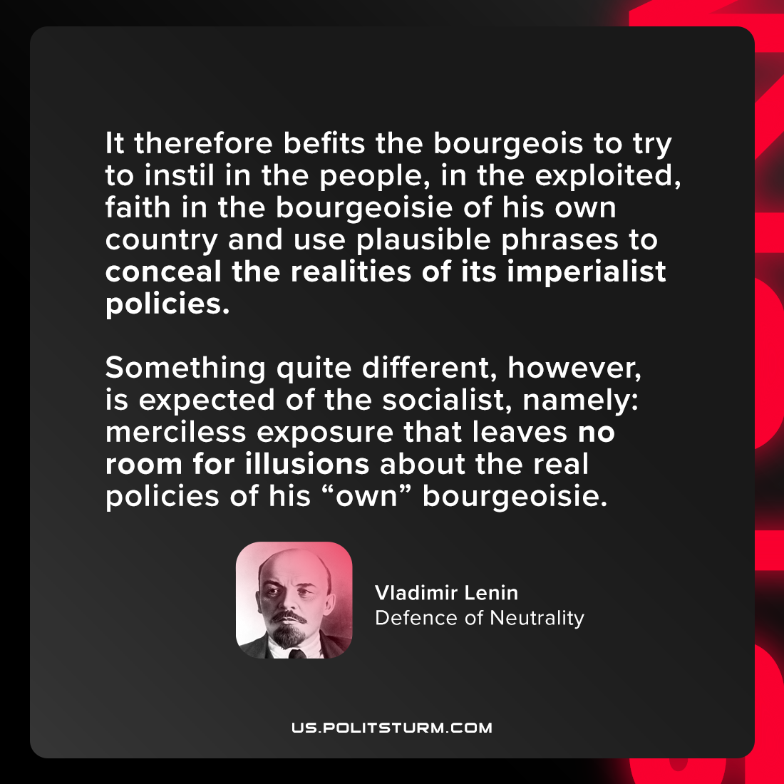 Lenin on Class Depiction of Reality