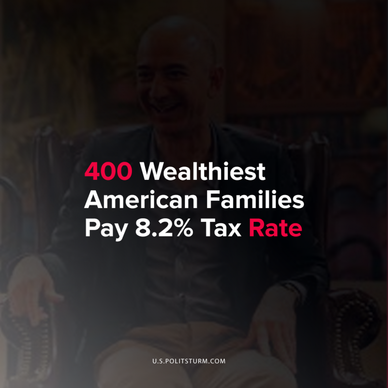 400 Wealthiest American Families Pay 8.2% Tax Rate